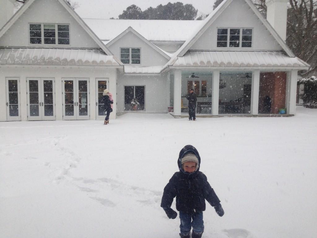 Garden Gate snow bound