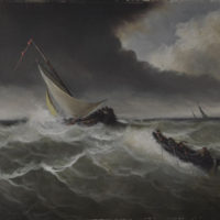 Dutch Seascape - Oil on canvas