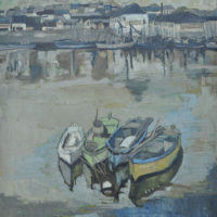 Les Quatre Barques (Zurich 1955) Oil on Canvas