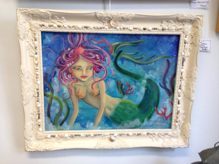 Lena Moschet BHI resident artist - mermaid